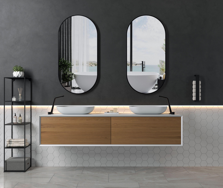 Aufsatzwaschbecken O-540 aus Mineralguss - Weiß hochglanz - 54 x 34 x 10,5 cm zoom thumbnail 4