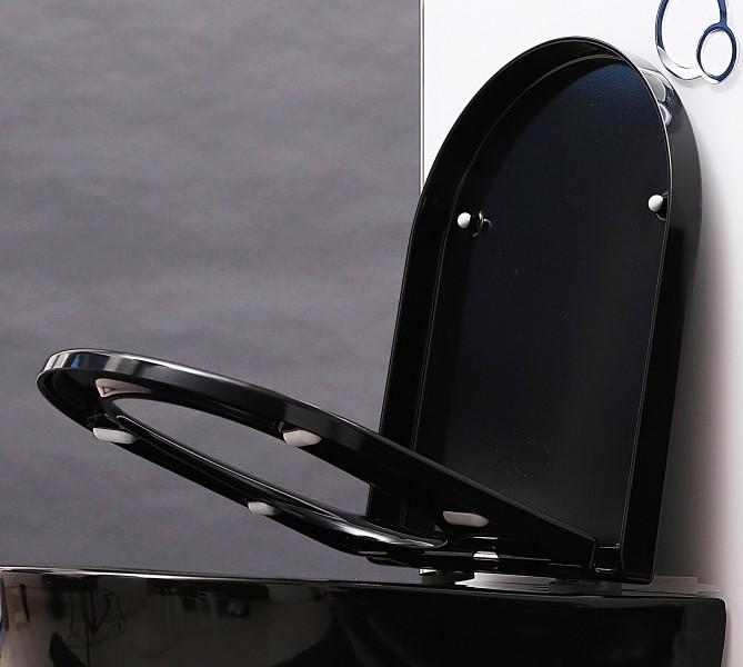 WC-Sitz WC-Deckel Softclose U1002 schwarz