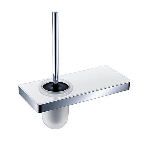 BERNSTEIN Toilettenbürstenhalter G505 Edelstahl - mit Ablage aus Glas