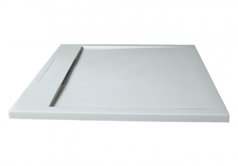 Mineralguss Duschtasse Duschwanne PB3086 - Weiß matt - 100x100x3,5cm