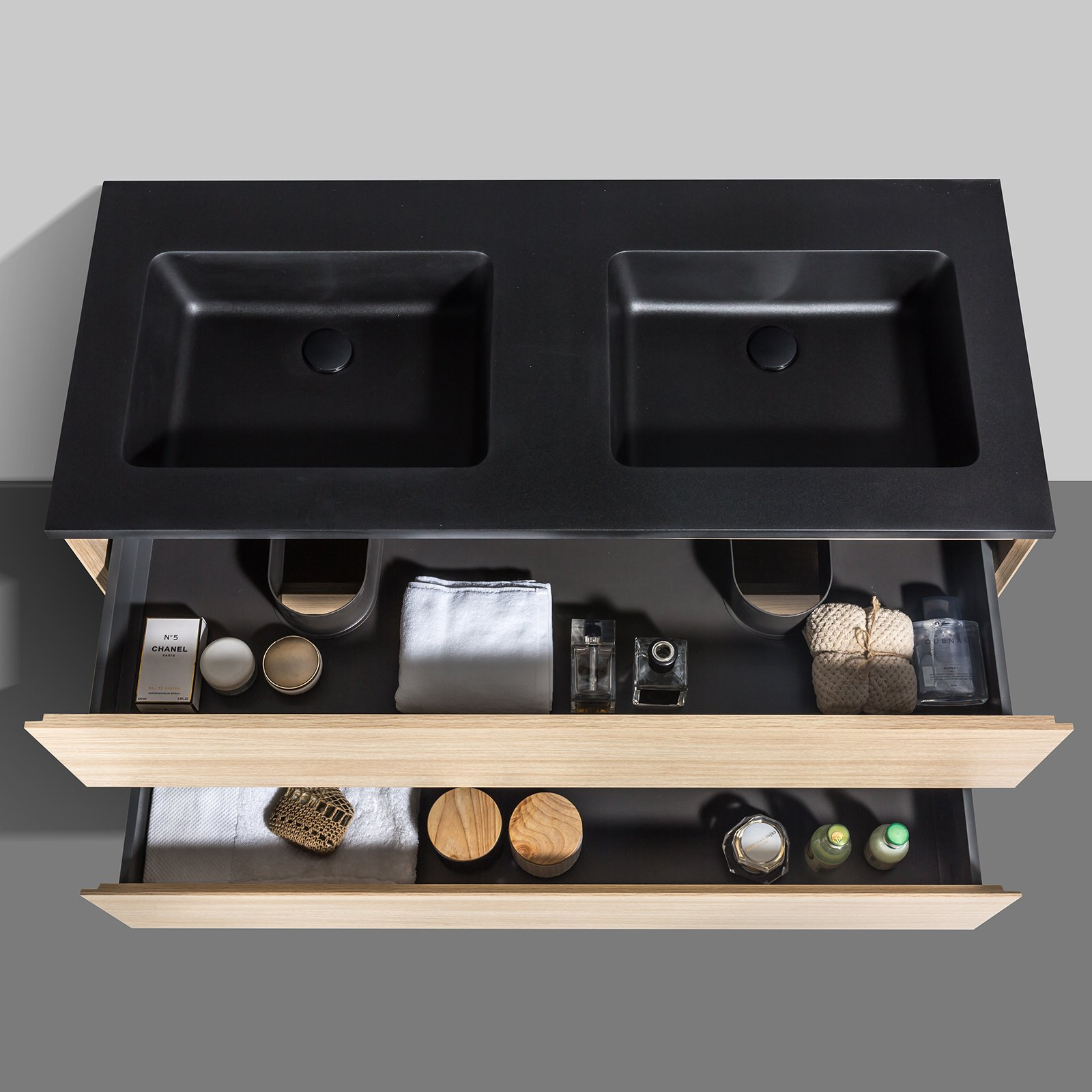Badmöbel-Set EDGE 1200 - Farbe wählbar - Spiegel & Seitenschrank optional zoom thumbnail 3