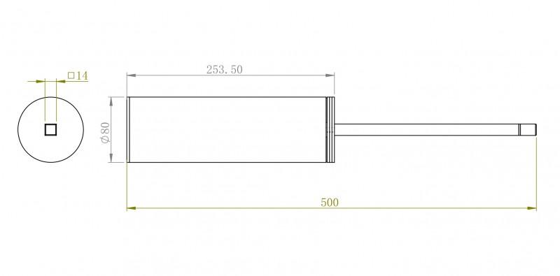 Edler Toilettenbürstenhalter SDVTBH Design rund - Serie VERSA - chrom zoom thumbnail 4