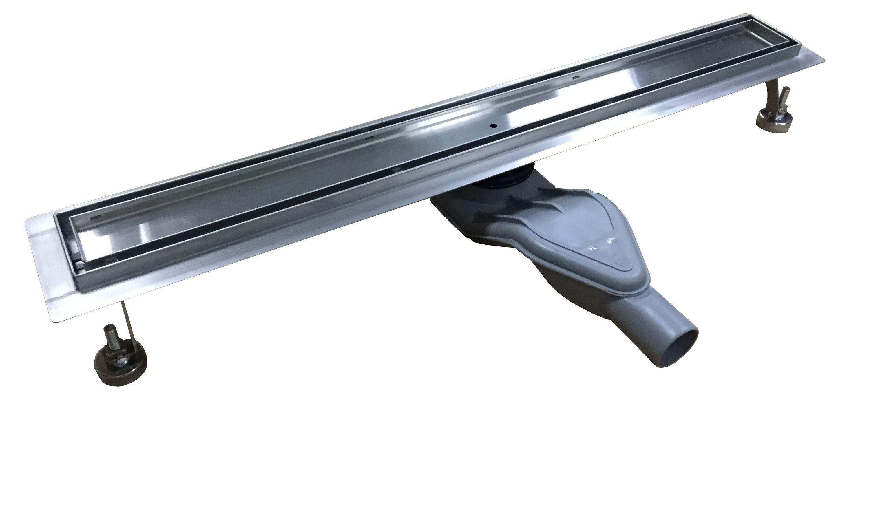 Edelstahl Duschrinne FlexG013 für Duschkabine inkl. Ablaufblende Trend - Länge wählbar