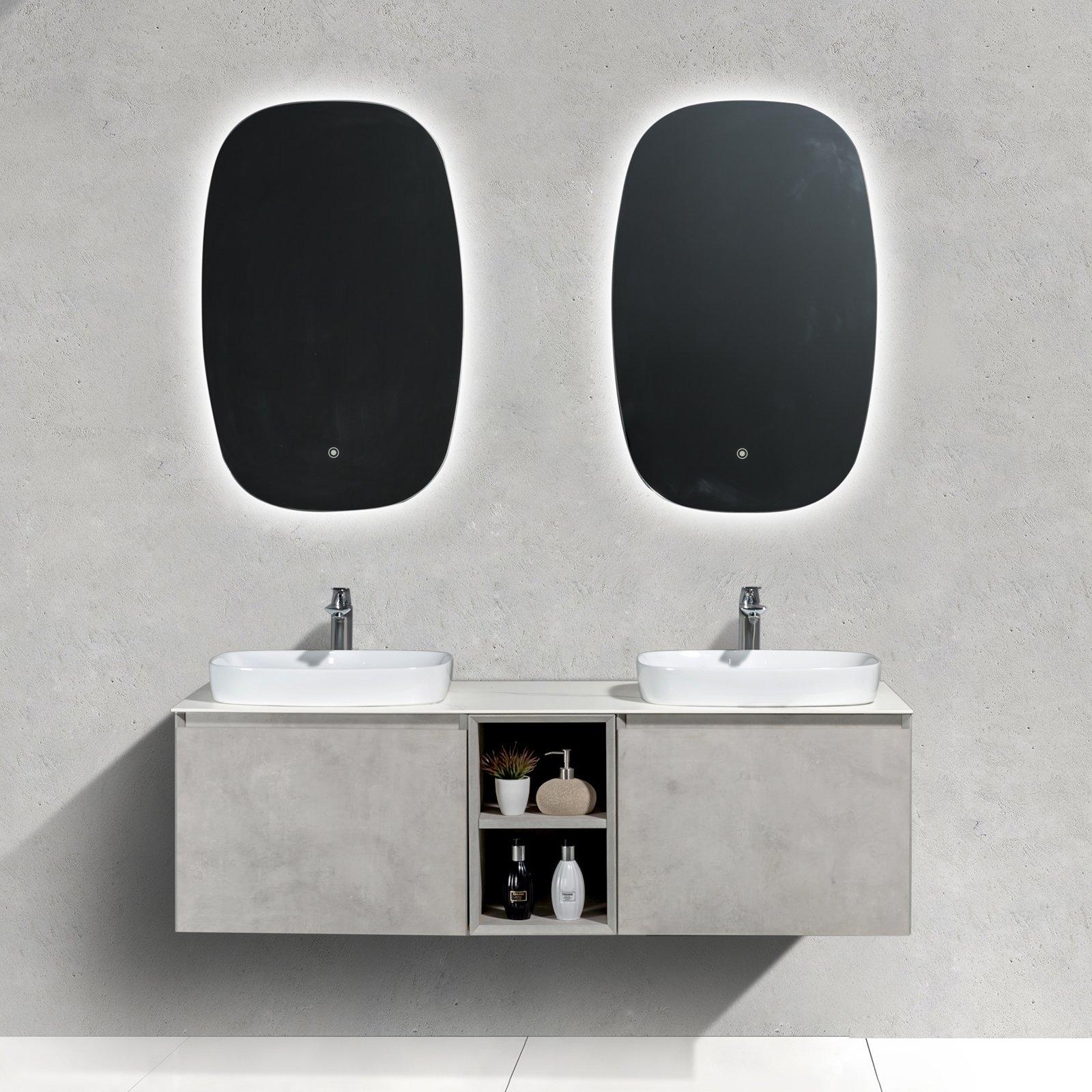Badmöbel-Set INALCO 1500 Beton-Optik - Spiegel optional