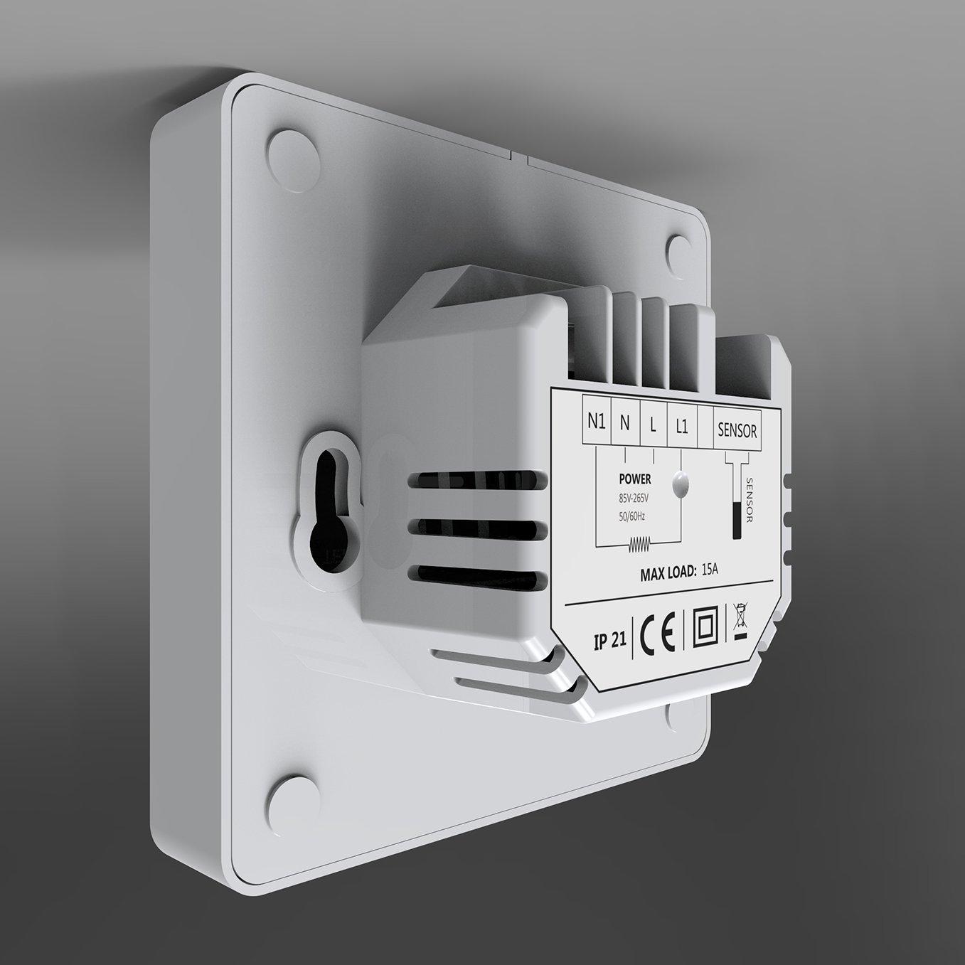 Thermostat ET61W White für elektrische Fußbodenheizung mit TWIN-Technologie - Steuerung über Smartphone zoom thumbnail 4