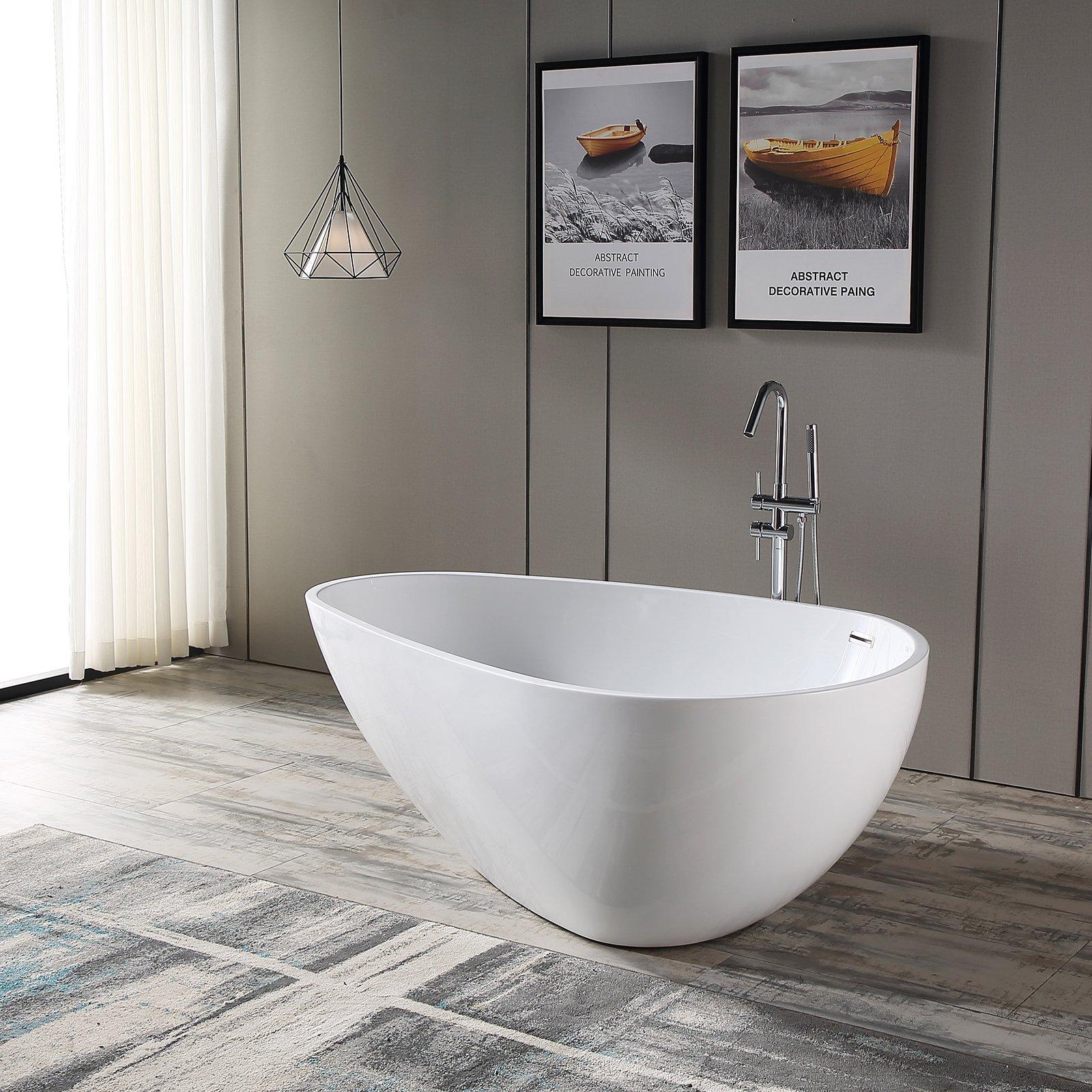 Freistehende Badewanne VENETO Acryl Weiß oder Schwarz/Weiß - Glänzend - 180 x 110 x 60 cm - Standarmatur wählbar zoom thumbnail 3