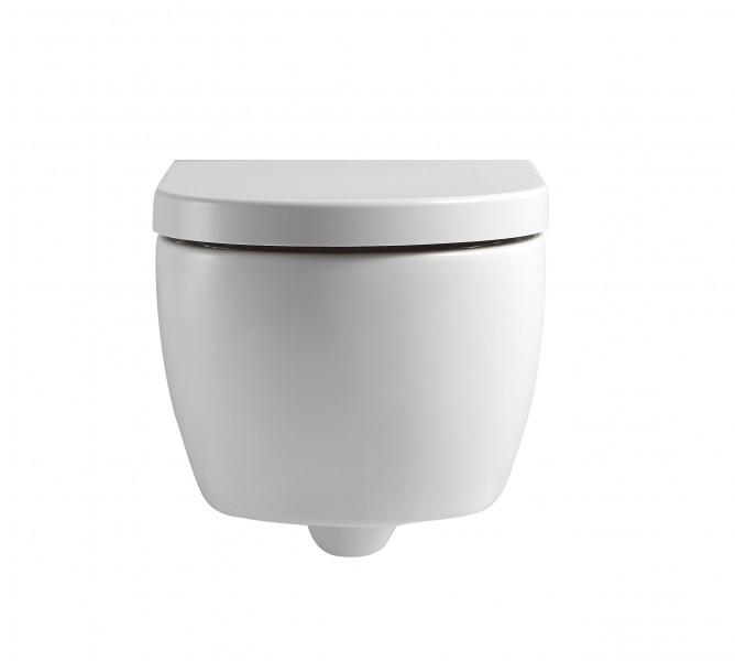 Spülrandloses Wand-Hänge WC NANO NT2038 - inkl. Softclose-Deckel - kurze Ausführung zoom thumbnail 4