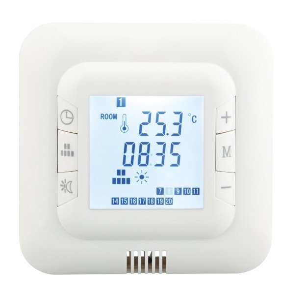Thermostat HT-01 White für elektrische Fußbodenheizung mit TWIN-Technologie