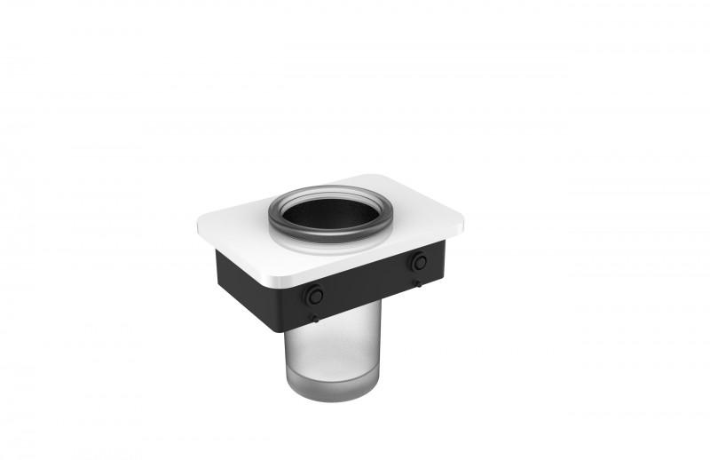 Ablage SDLZPBA inkl. Zahnputzbecher - passend zu den Handtuchhaltern SDLHH45 und SDLHH60 - Serie LINEAR - chrom