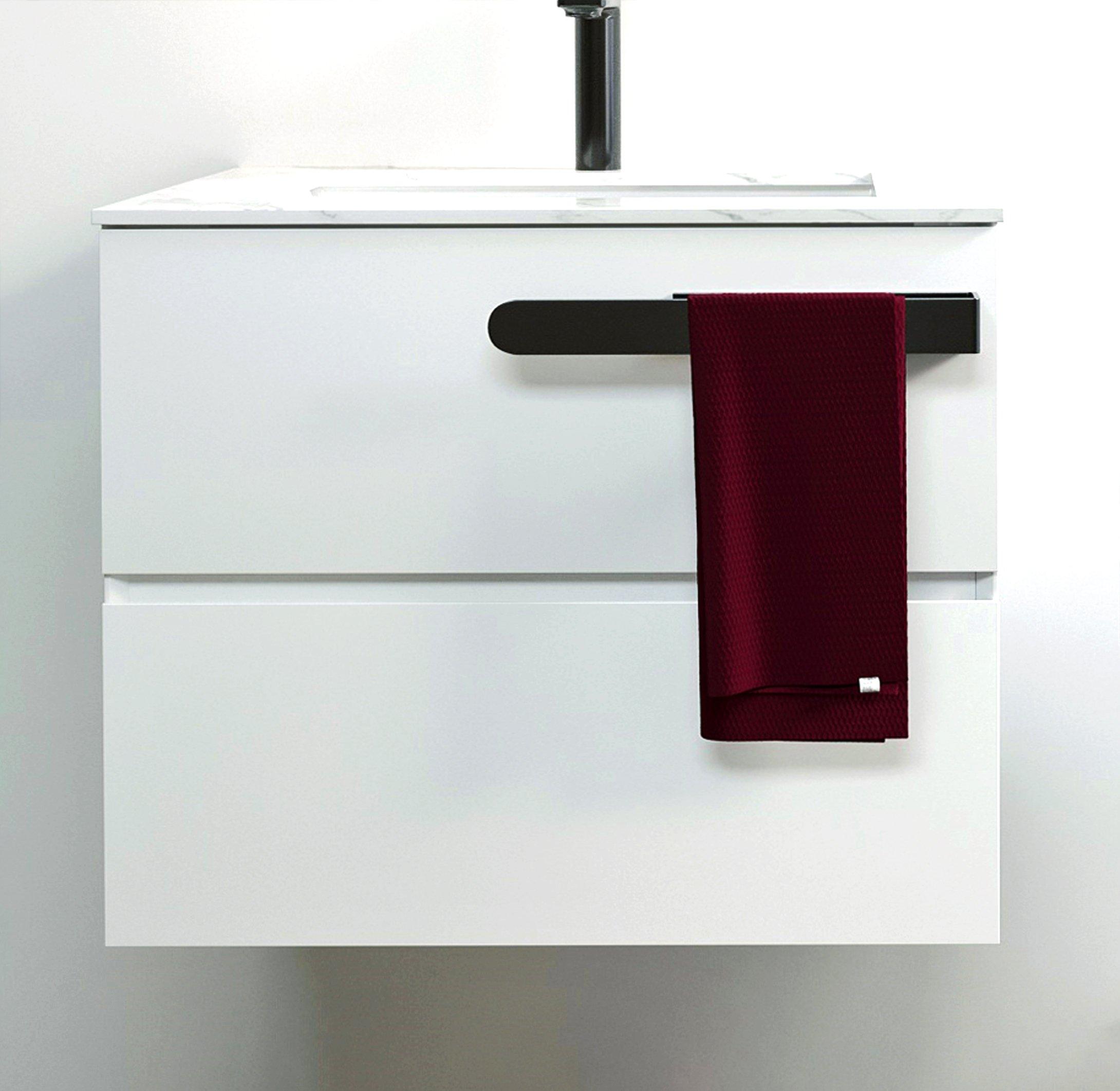 Selbstklebender Handtuchhalter HH21 Korpusmontage für Badmöbel - Farbe wählbar zoom thumbnail 5