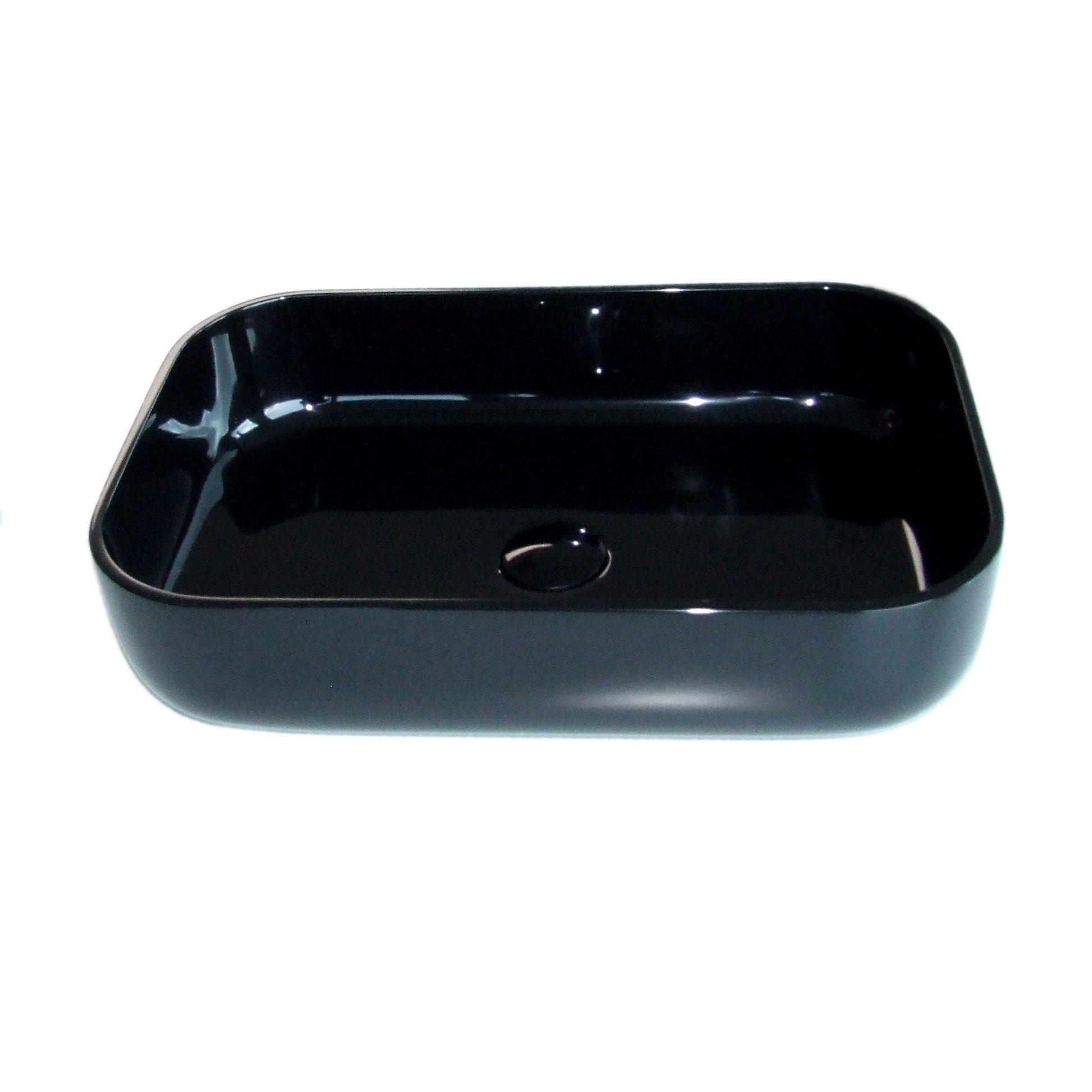 Waschbecken Pop-up Blende aus Mineralguss für Ablaufgarnitur - Farbe Schwarz Glänzend zoom thumbnail 4