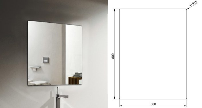 Badmöbel-Set M600 Weiß - Badspiegel optional wählbar zoom thumbnail 5