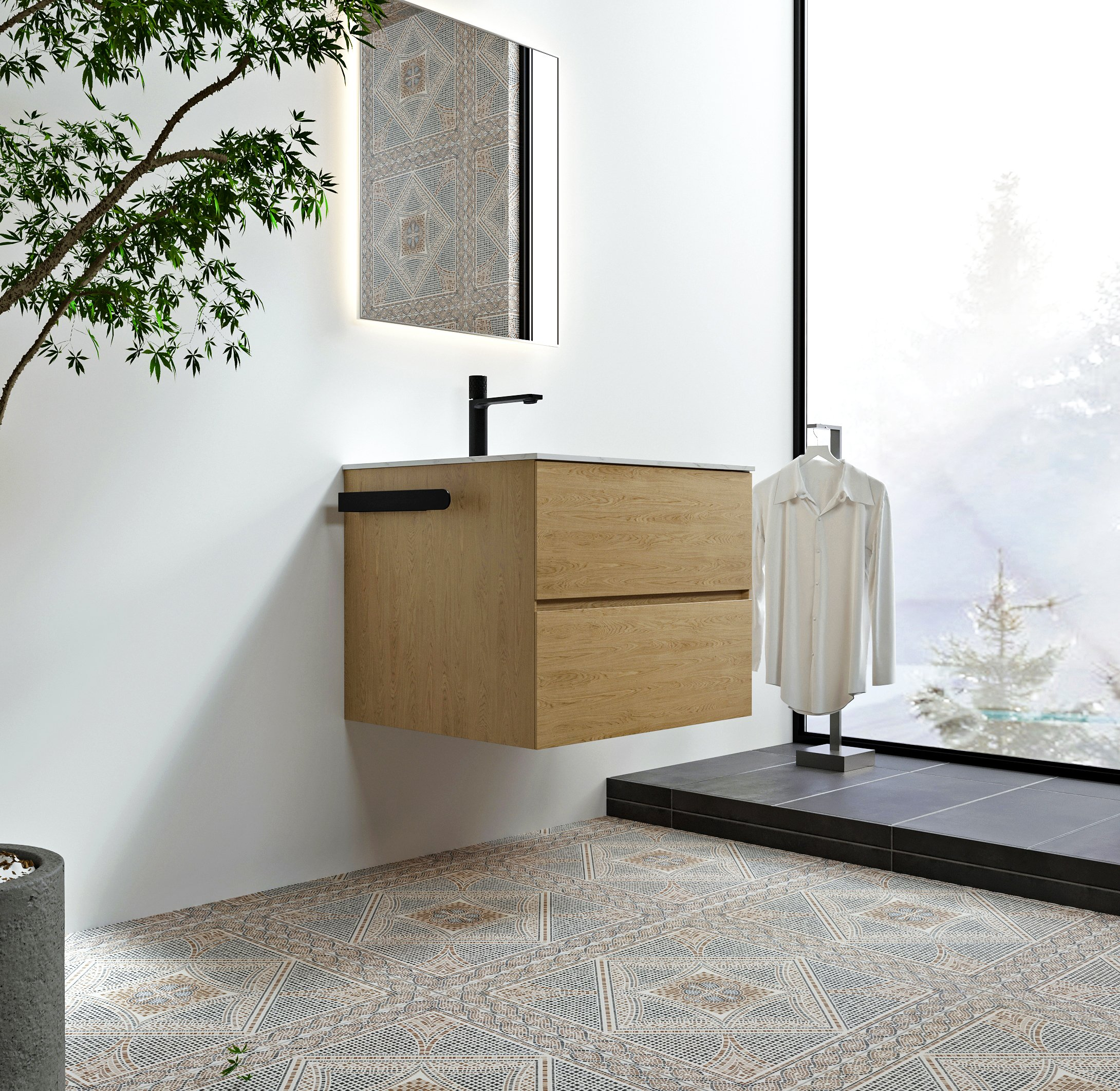 Selbstklebender Handtuchhalter HH35 Korpusmontage für Badmöbel - Farbe wählbar