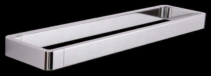 Hochwertiger Handtuchhalter SDLHH45 - Serie LINEAR - chrom - Zahnputzbecher / Seifenspender / Ablage optional