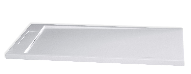 Mineralguss Duschtasse rechteckig M2680CW - Weiß glänzend - 160x80x3,5cm