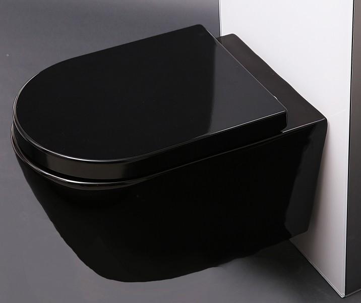 WC-Sitz WC-Deckel Softclose U1002 schwarz zoom thumbnail 3