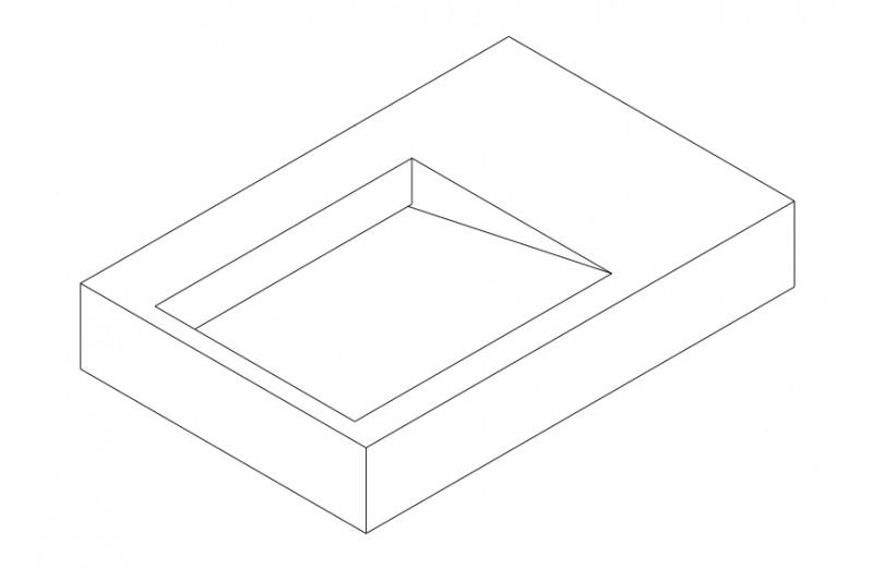 Wandwaschbecken aus Mineralguss PB2014 weiß - Solid Stone - 74 x 50 x 13 cm zoom thumbnail 3