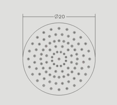 Regendusche Edelstahl-Duschkopf DPG2025 superflach - 20 cm rund zoom thumbnail 3