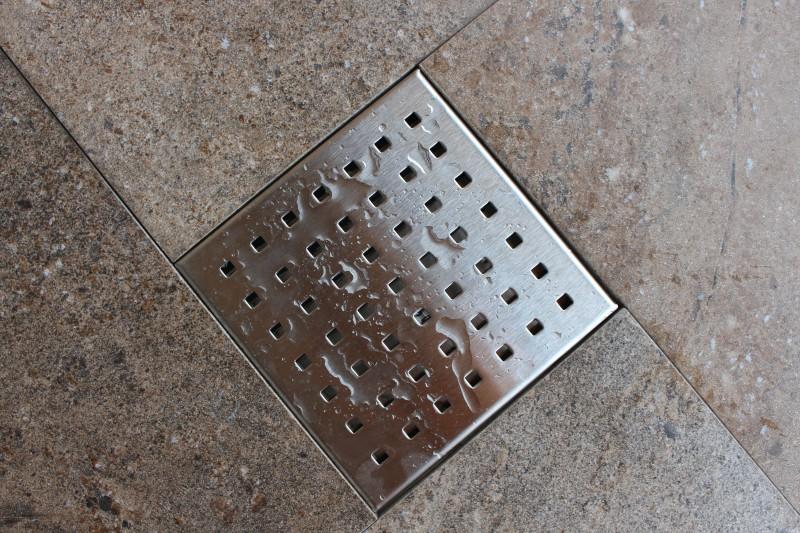 Edelstahl-Duschrinne S01 Bodenablauf für Duschkabine - inkl. Ablaufblende - Größe wählbar