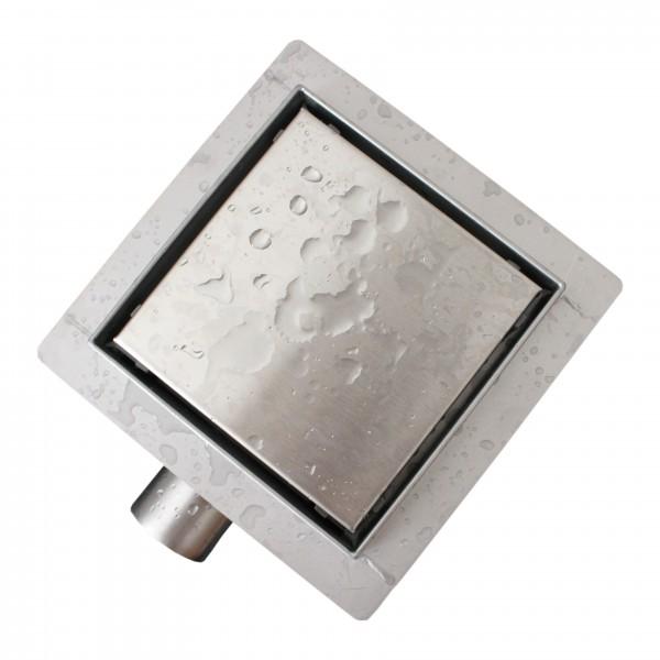 Edelstahl-Duschrinne T02 Bodenablauf für Duschkabine - inkl. Ablaufblende - Größe wählbar