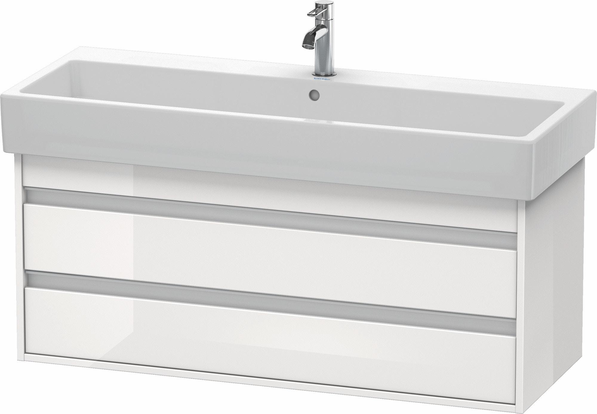 Duravit Ketho Badmöbel Set 1150 mit Vero Waschtisch - Optional mit Seitenschrank und Spiegel
