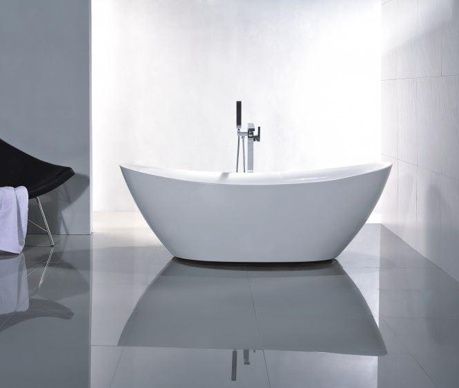 Freistehende Badewanne Acryl BELLAGIO weiß glänzend - 180 x 86 cm - Zubehör optional zoom thumbnail 4