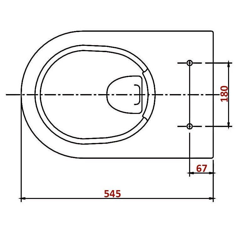 BERNSTEIN Design Wand-Hänge WC Toilette Nano inkl. Softclose Deckel NT2019 zoom thumbnail 4