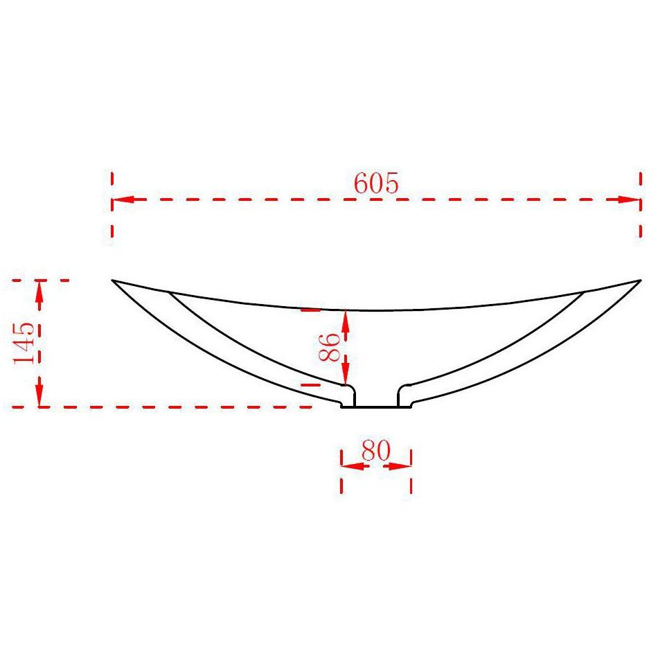 Aufsatzwaschbecken TWA05 aus Mineralguss (Pure Acrylic) - Matt - 60,5 x 38 x 14,5 cm zoom thumbnail 4