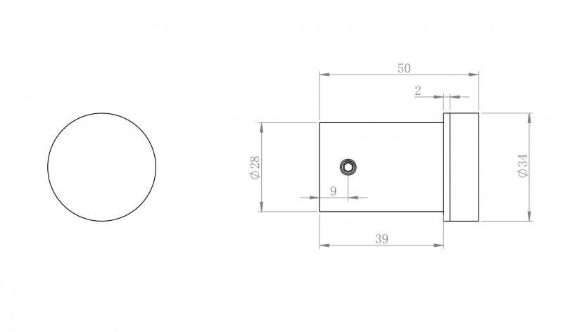 Moderner Handtuchhaken SDVHK Design rund - Serie VERSA - chrom zoom thumbnail 3