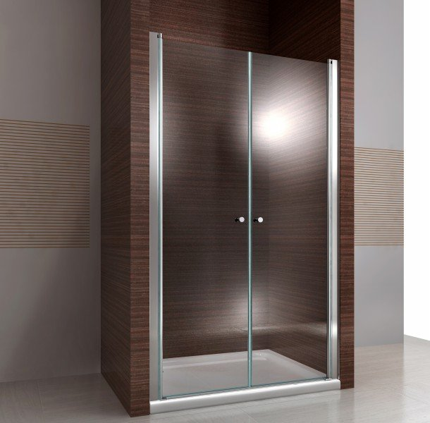 Duschkabine Duschabtrennung Nischentür Nano Echtglas EX218 - 195 cm Höhe - Breite wählbar