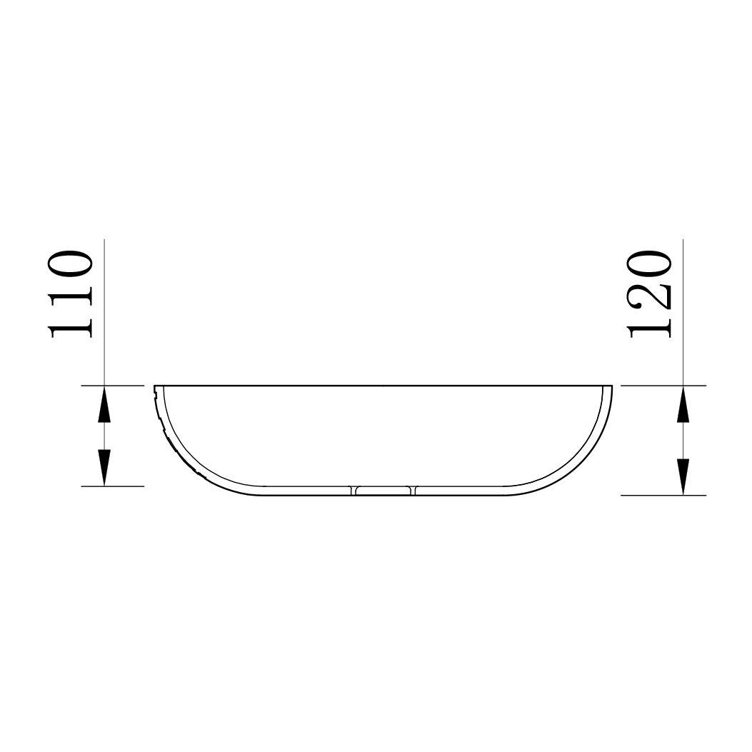 Design Aufsatzwaschbecken LEO aus Mineralguss - 50 x 40 x 12 cm - Farbe wählbar zoom thumbnail 3