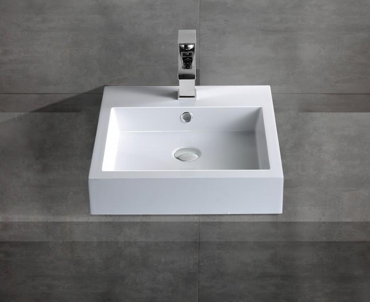 Wandwaschbecken Aufsatzwaschbecken BS6050 45 x 45 x 12,5cm zoom thumbnail 3