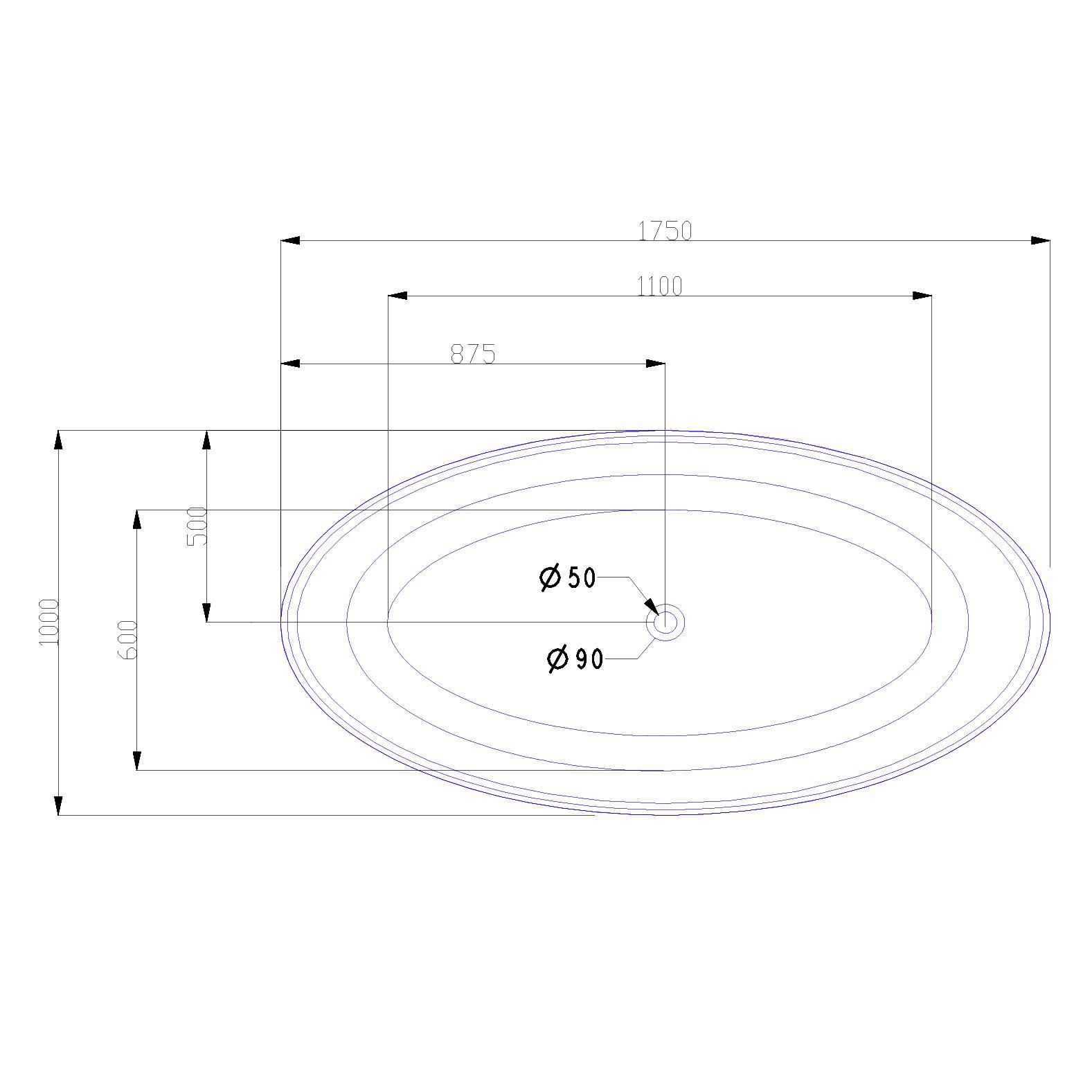 Freistehende Badewanne LEO Acryl Weiß glänzend - 175 x 100 x 58 cm - Standarmatur wählbar zoom thumbnail 5