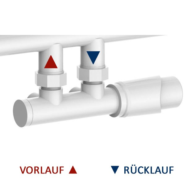 Design Badheizkörper Handtuchwärmer D16W in Weiß - Größe wählbar zoom thumbnail 6