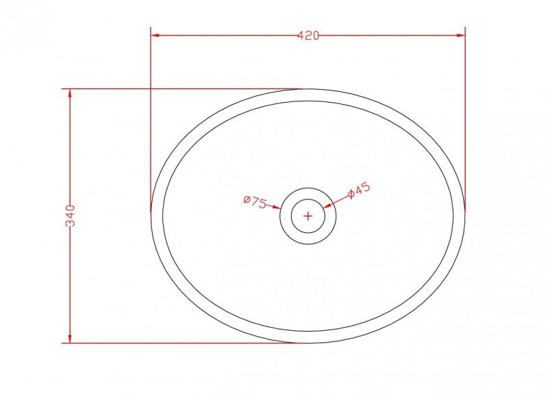 Aufsatzwaschbecken TWA29 aus Mineralguss (Pure Acrylic) - Weiß matt - 42x34x15cm zoom thumbnail 4
