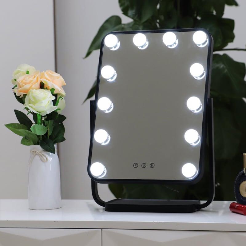 Hollywood Kosmetikspiegel Lichtspiegel R328 inkl. 12 LEDs - Farbe wählbar