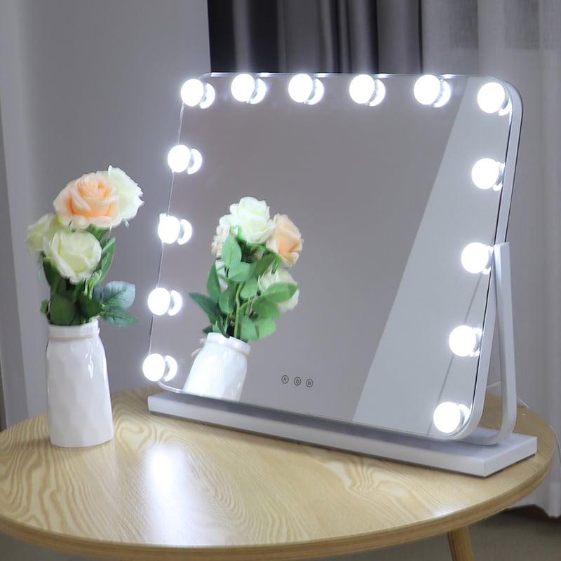 Hollywood Kosmetikspiegel Lichtspiegel R600 inkl. 14 LEDs - Farbe wählbar