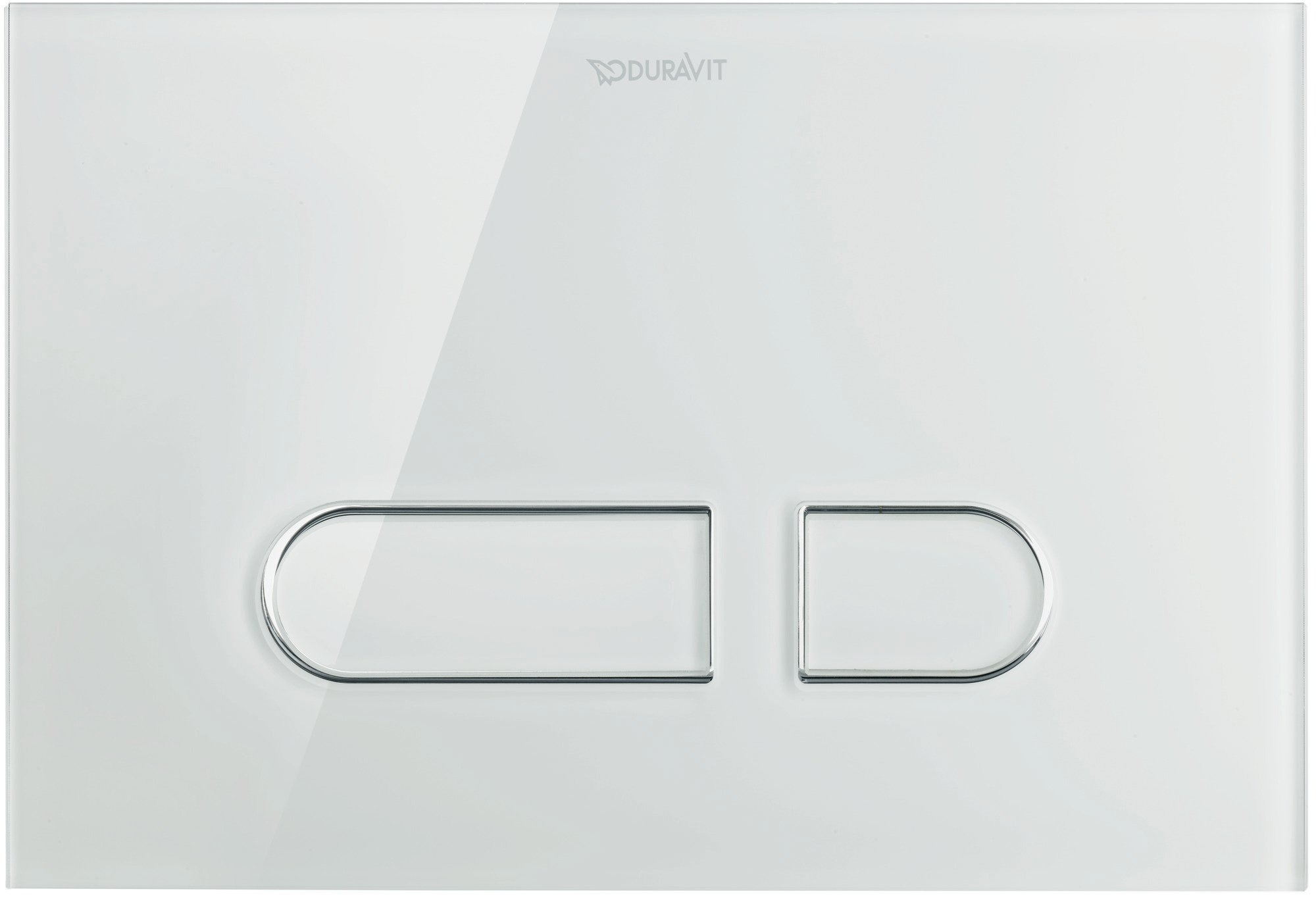 Duravit DuraSystem Betätigungsplatte A1 für WC, Glas