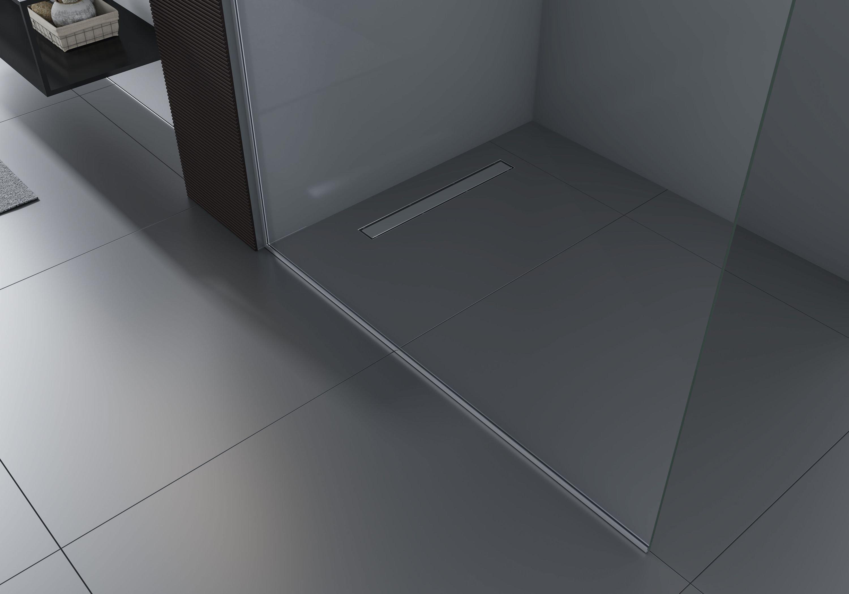 Walk-In 10mm Nano Echtglas EX102 - Klarglas - 1 Glaswand & 14mm Edelstahlprofil - Profilfarbe & Breite wählbar zoom thumbnail 4