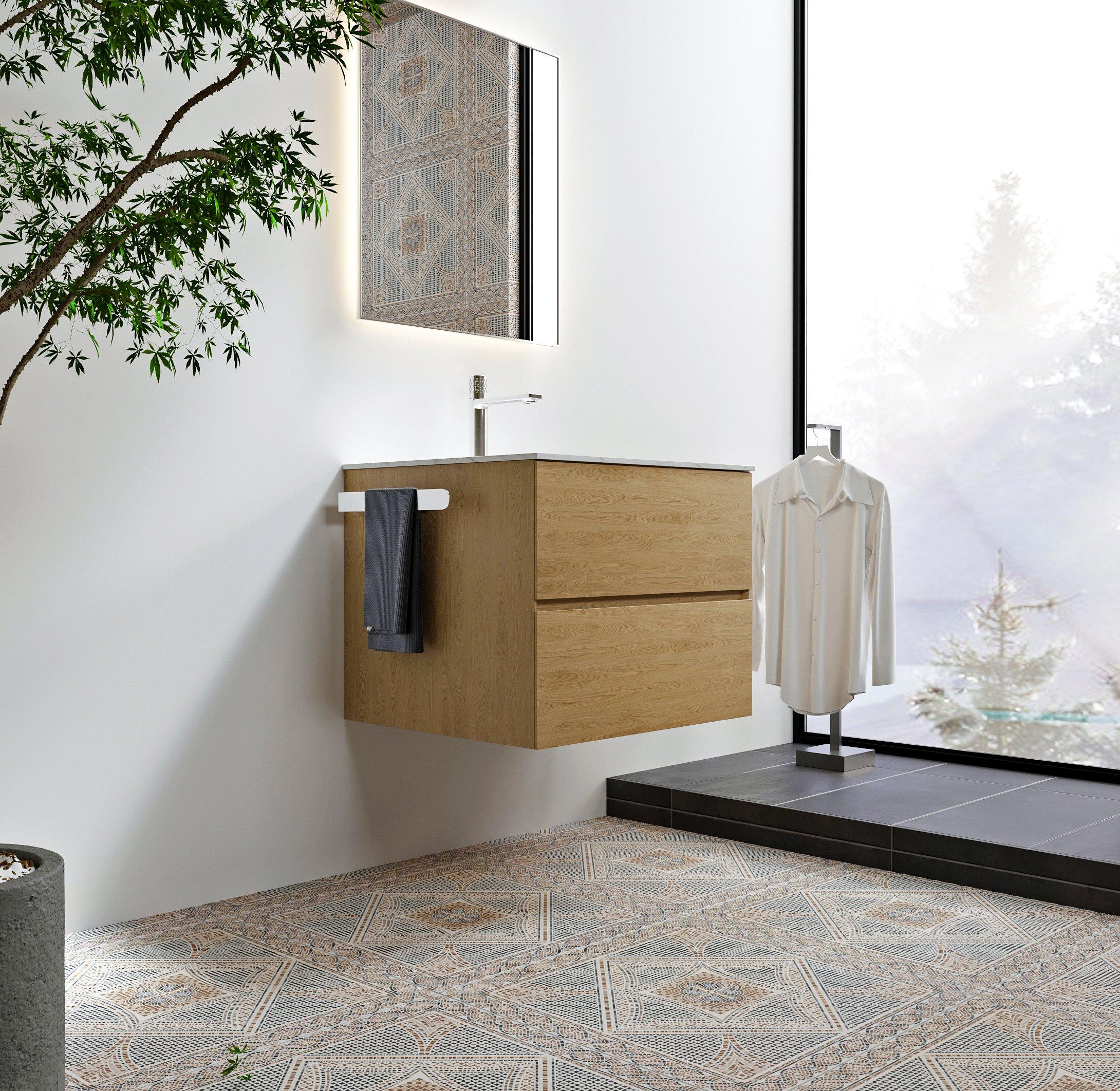 Selbstklebender Handtuchhalter HH21 Korpusmontage für Badmöbel - Farbe wählbar