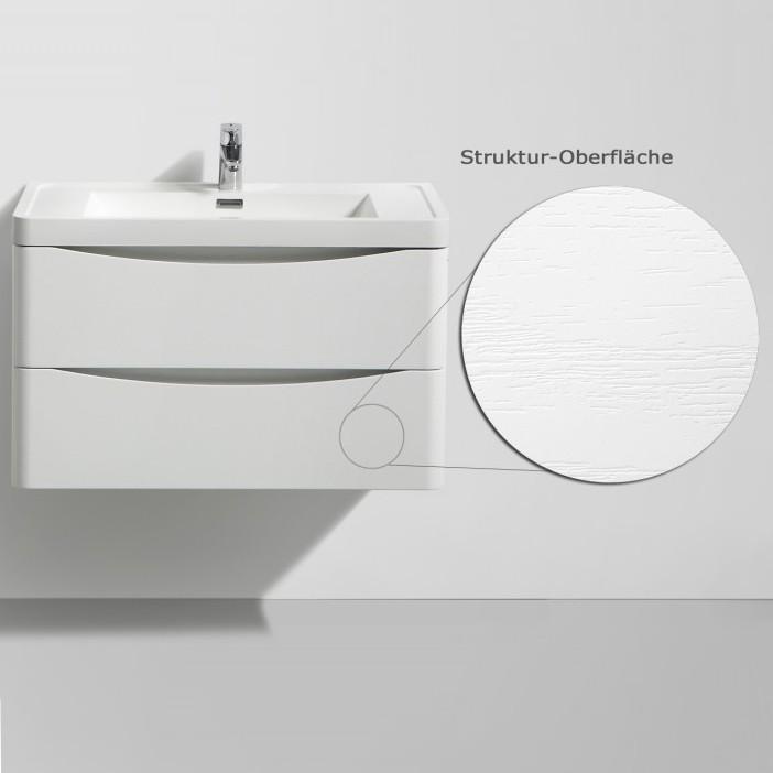 Badmöbelset Smile 800 Lilie Weiß - Spiegel und Hängeschrank optional