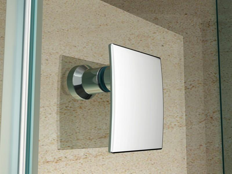 Duschkabine Fünfeckdusche Nano Echtglas EX415 - 90 x 90 x 195 cm inkl. Duschtasse