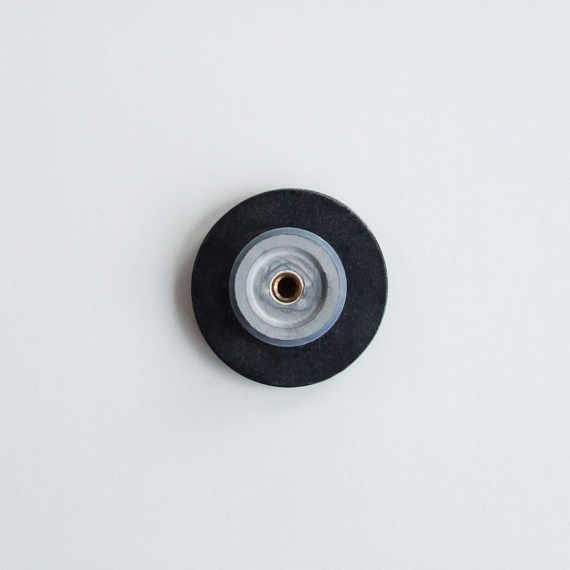 Waschbecken Pop-up Blende aus Mineralguss für Ablaufgarnitur - Farbe Schwarz Glänzend zoom thumbnail 3