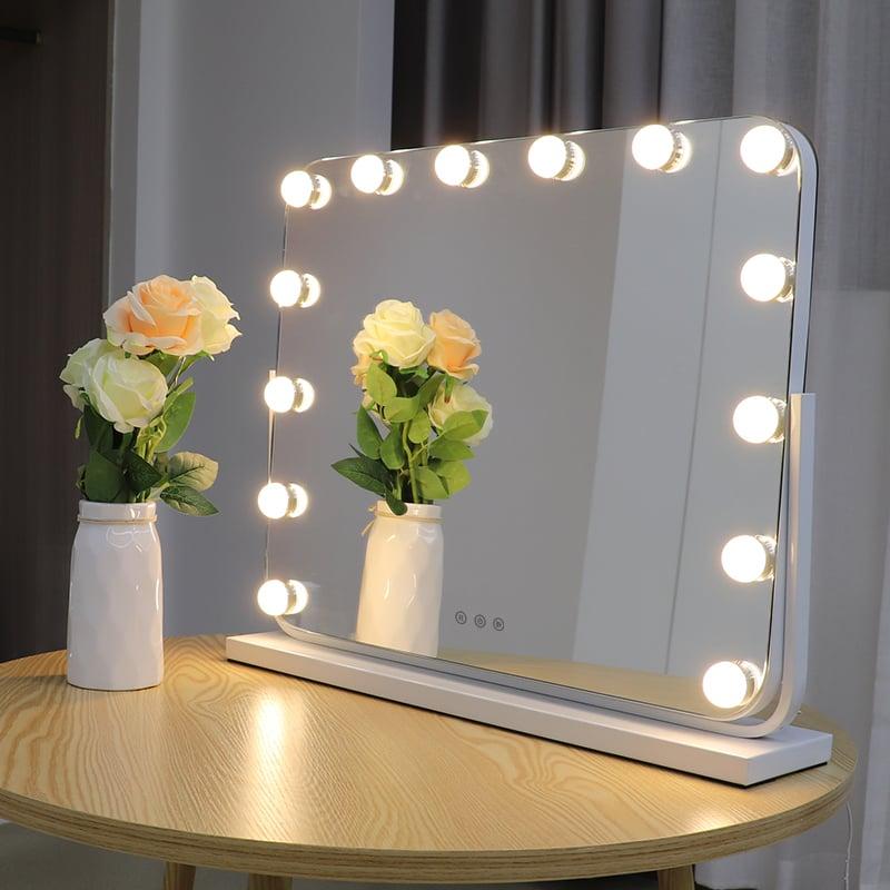 Hollywood Kosmetikspiegel Lichtspiegel R600 inkl. 14 LEDs - Farbe wählbar zoom thumbnail 6