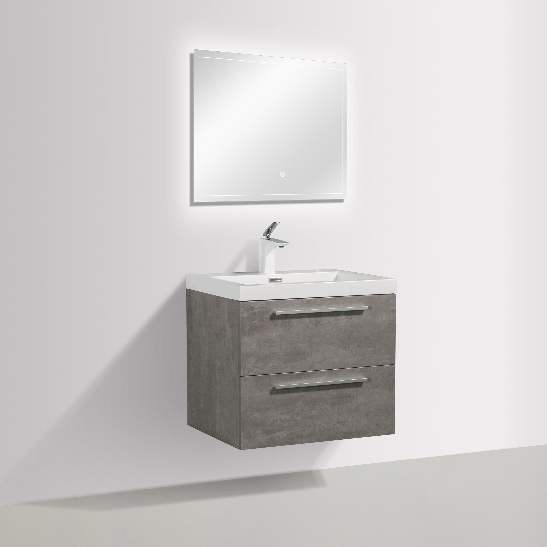 Badmöbel-Set M600 Beton-Optik - Badspiegel optional wählbar