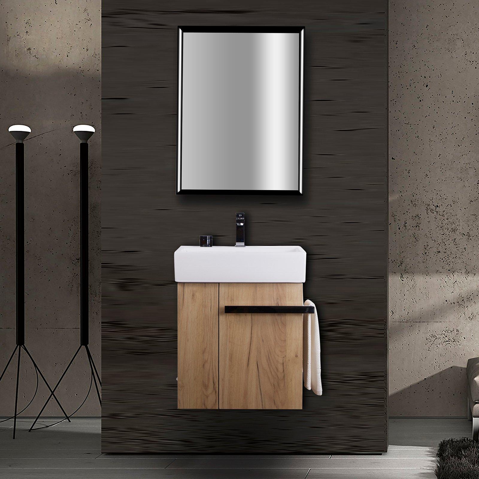 Badmöbel-Set Compact 500 für Gäste-WC - Eiche-Optik