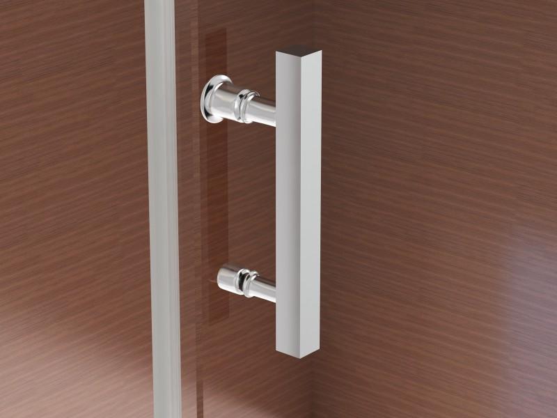 Duschkabine NANO 8mm Echtglas EX806 Schiebetür - 80 x 120 x 195 cm zoom thumbnail 5