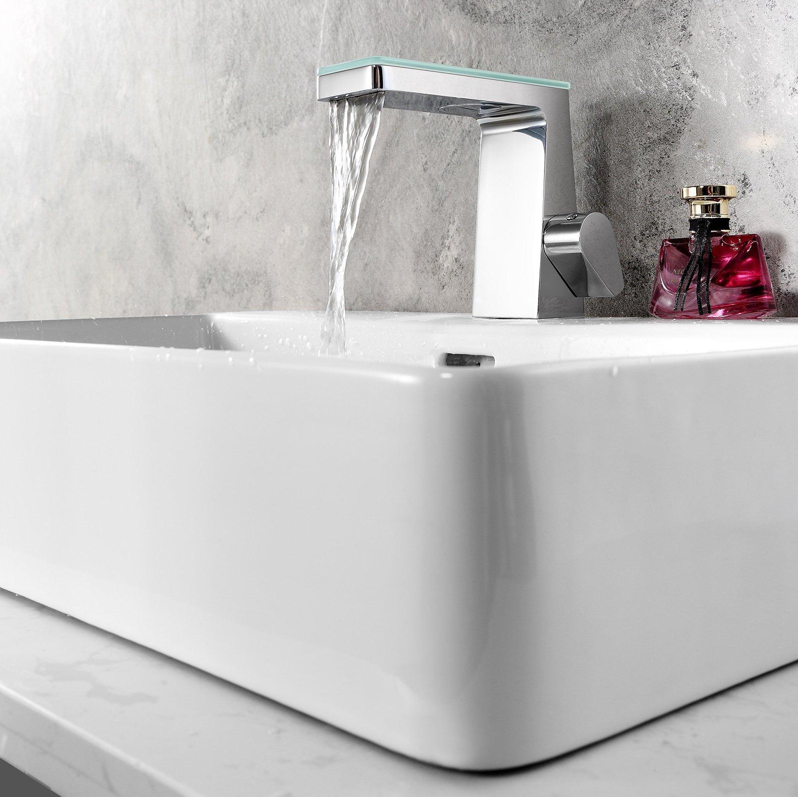 Design Wasserfall Waschtischarmatur NT7320 - Wasserhahn in Chrom zoom thumbnail 3