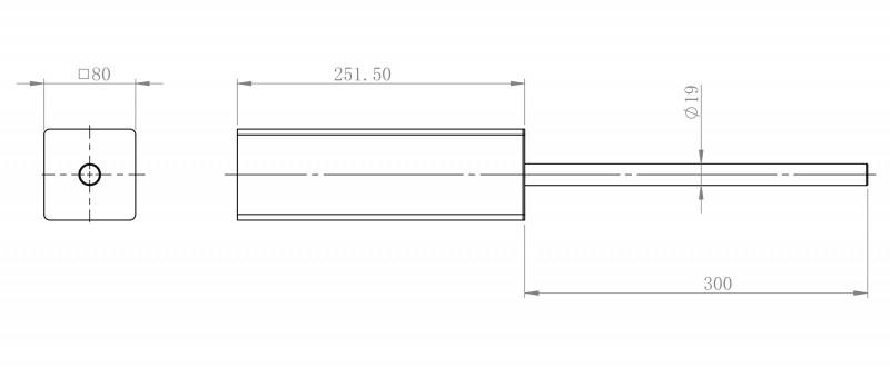 Edler Toilettenbürstenhalter SDLTBH aus Messing - Serie LINEAR - chrom zoom thumbnail 3