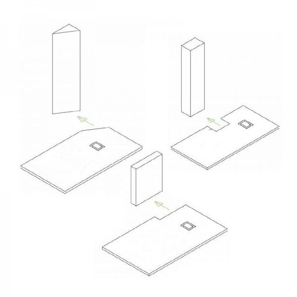 Duschtasse Duschwanne rechteckig GT-Serie in Schwarz aus SMC - Breite: 80 cm -  Zubehör wählbar zoom thumbnail 5
